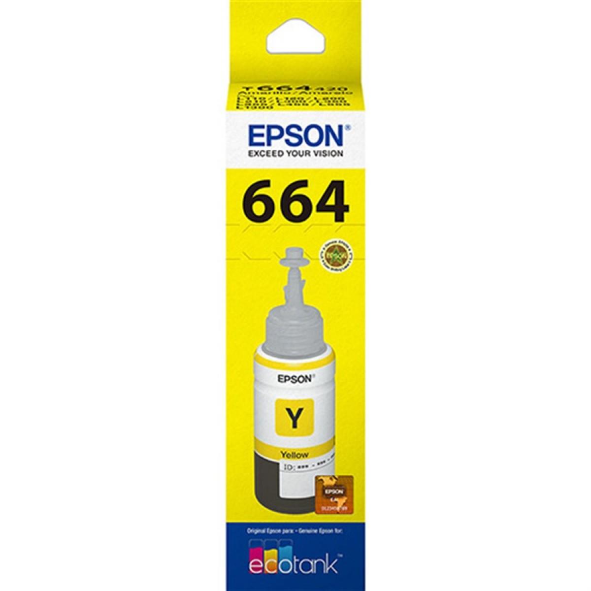 Tinta Epson T664 Amarelo Original Tintas